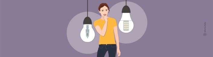 Halogenske žarnice vs. LED sijalke / PorabimanjINFO / Ilustracija: Branko Baćović