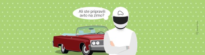 Priprava avtomobila na zimo / PorabimanjINFO / Ilustracija: Branko Baćović