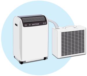 Prenosne klimatske naprave / Split klimatske naprave - osnovne značilnosti / PorabimanjINFO / Ilustracija: Branko Baćović