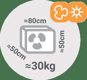 Split klimatske naprave - dimenzije zunanje enote / PorabimanjINFO