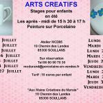Arts Créatifs Atelier pour enfants eté