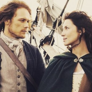 Jamie and Claire on their way to France