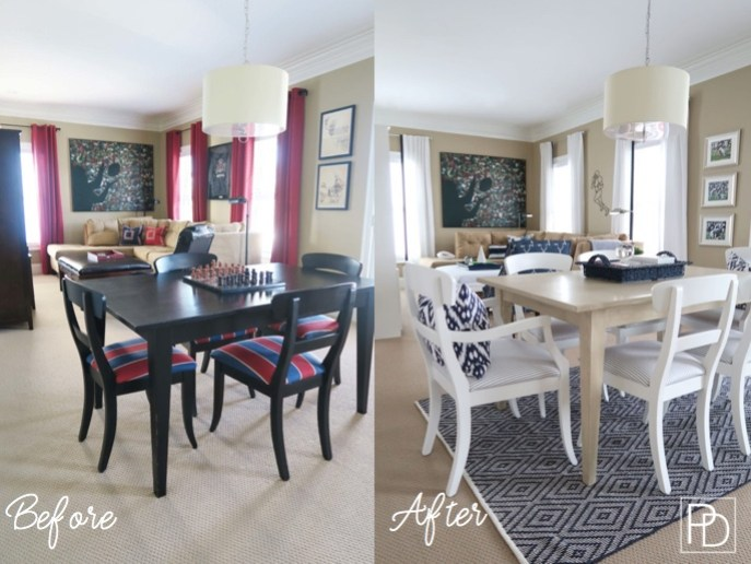 Painted Table and Chairs Before and After_Porch Daydreamer