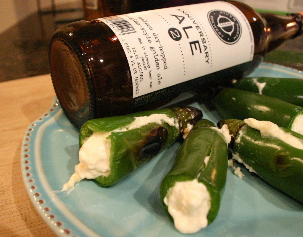 Pineapple Cream Cheese Stuffed Jalapenos