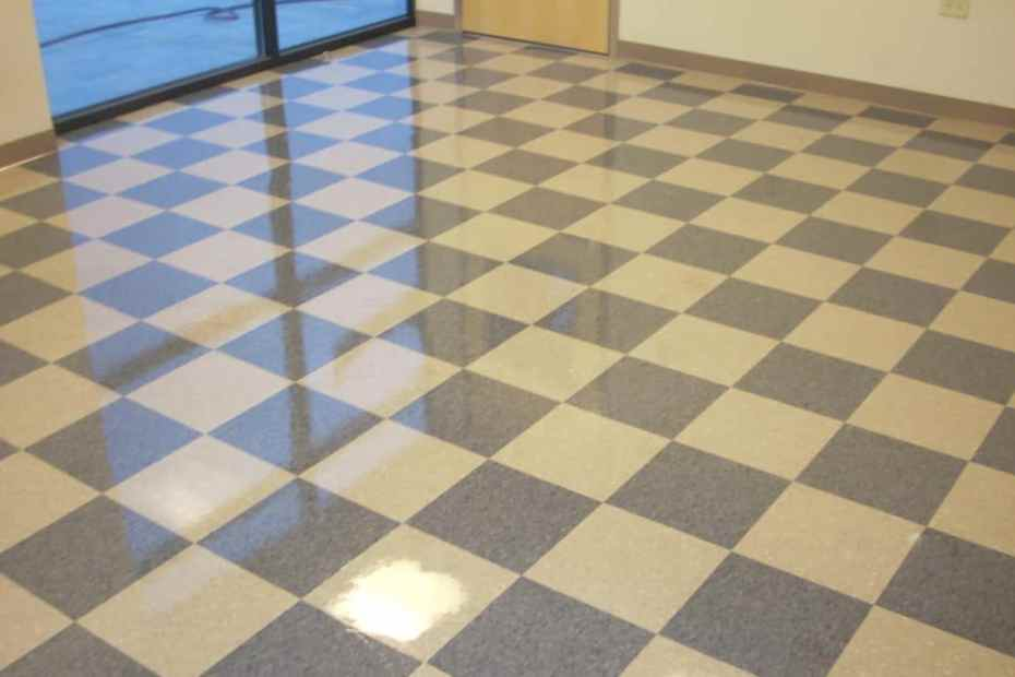 wax floor vct
