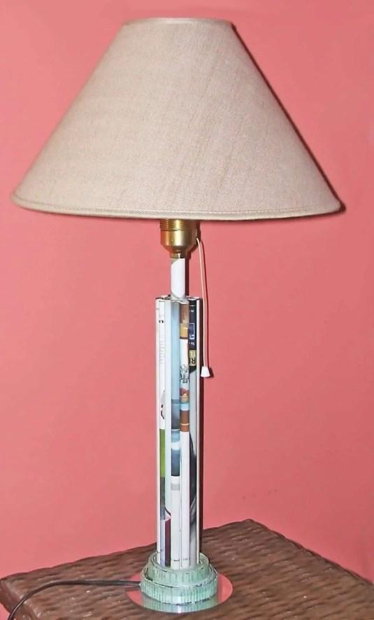 Cómo hacer un pié de lámpara con papel