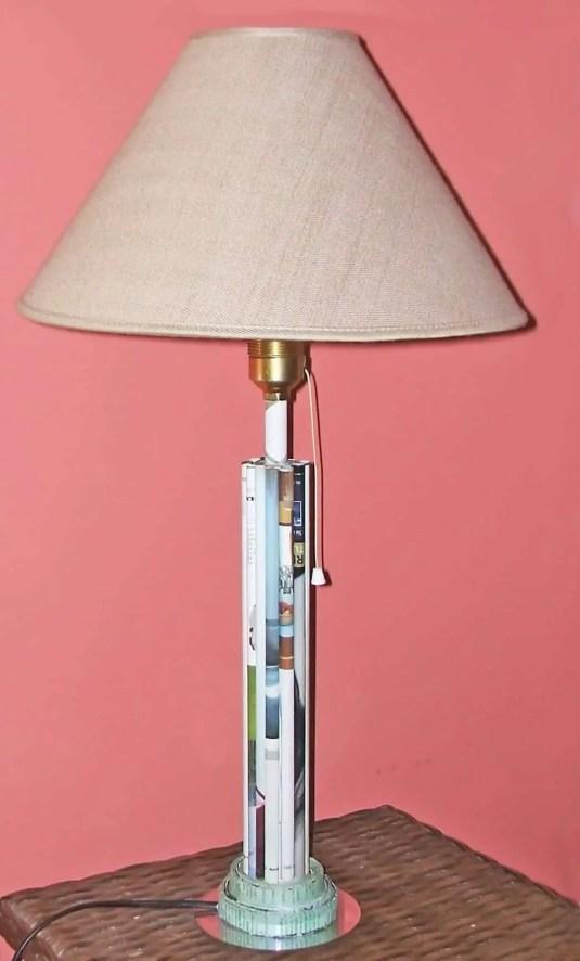 Pie de lámpara de papel
