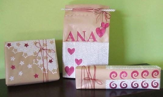 Más ideas para envolver regalos con papel craft