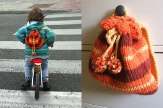 Cómo tejer una mochila para niños
