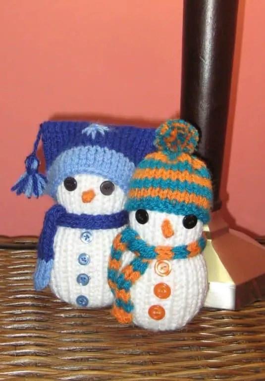 Cómo tejer muñecos de nieve