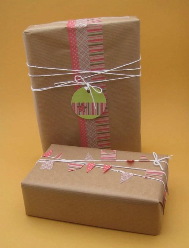Adorna tus regalos con washi tape