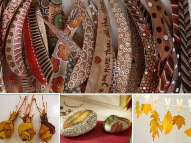 12 ideas para decorar con hojas secas