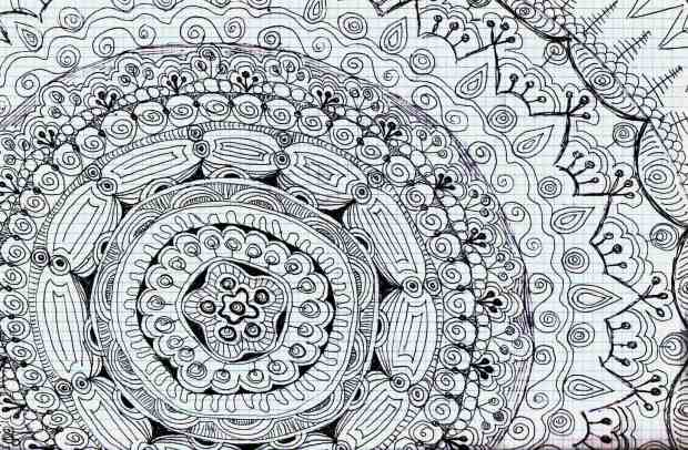 Zentangle o el arte de pintar garabatos