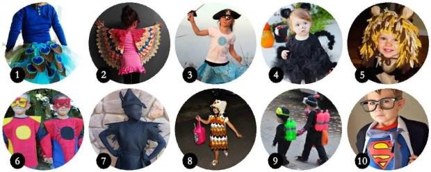 10 disfraces infantiles caseros para Halloween