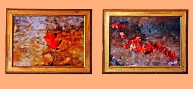 Antes y después de dos marcos para fotos