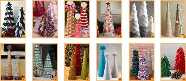12 Ideas para hacer pequeños arboles de Navidad