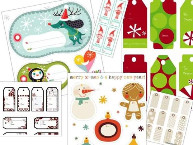 25 Modelos de etiquetas de navidad para imprimir gratis