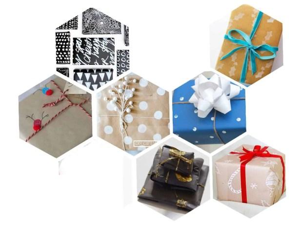 Estampa tu propio papel de regalo