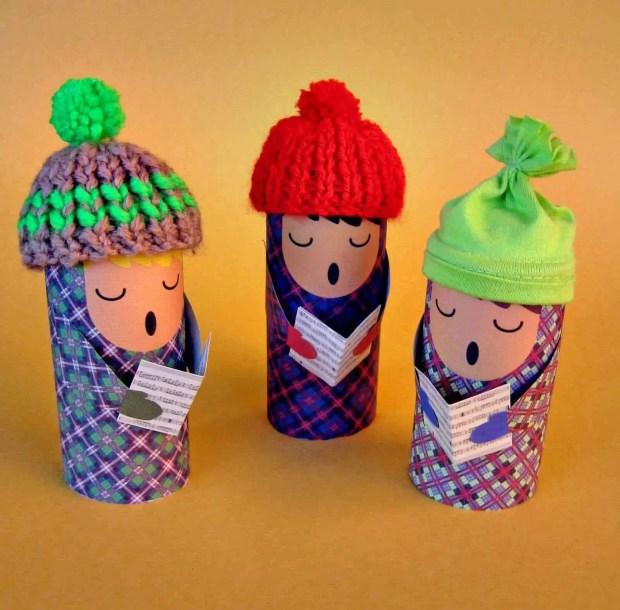 Plantillas para hacer muñecos con tubos de cartón