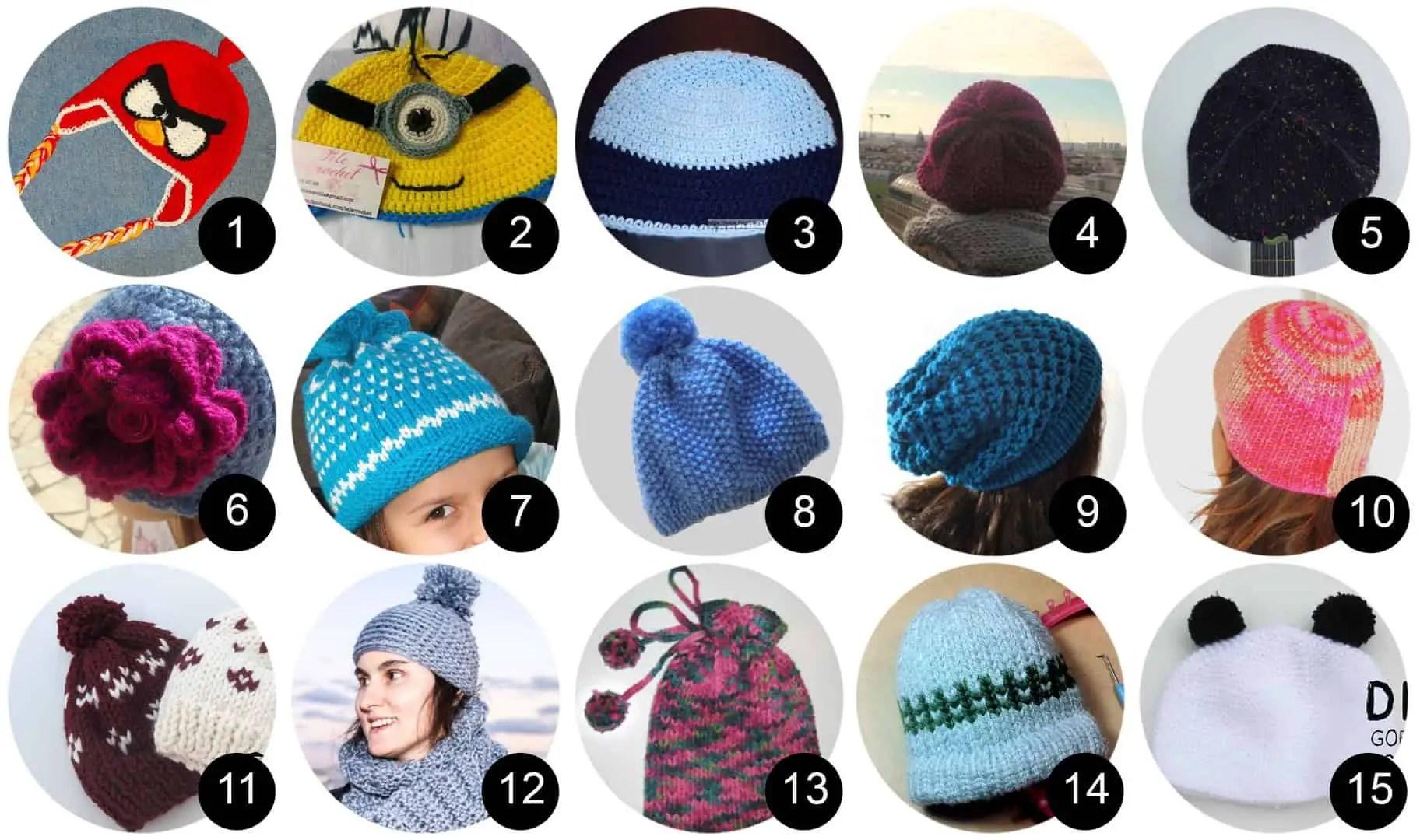 15 Tutoriales para hacer gorros de lana paso a paso
