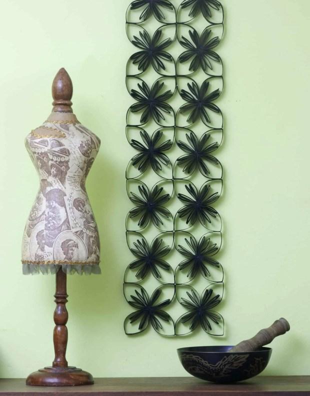 Cómo hacer una celosía decorativa con tubos de cartón