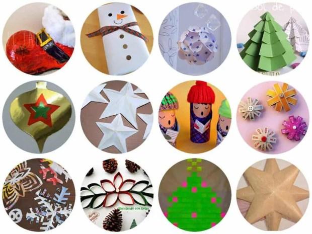 DIY: Adornos de navidad con papel y cartón