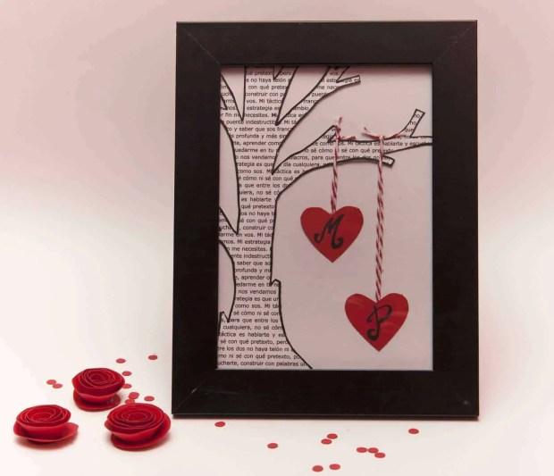 Cómo hacer un cuadro romántico para San Valentín