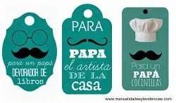 etiquetas regalo para día del padre