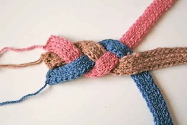 Diadema de lana con forma de trenza - Material para hacer diademas ...