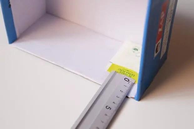 Medimos el sobrante de la caja