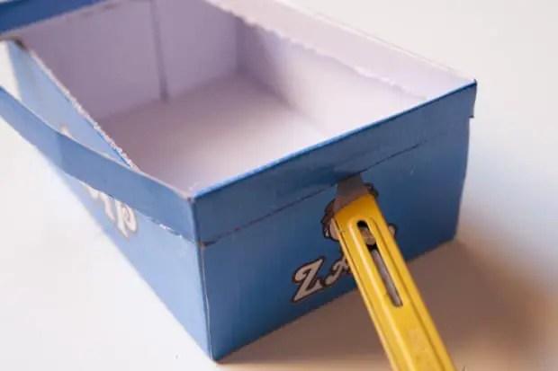 Cortamos la caja a la medida adecuada