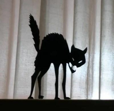 Silueta de gato para halloween