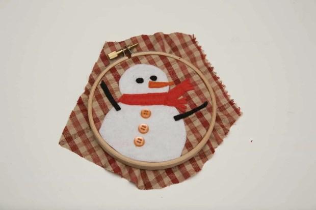 adornos de navidad con bastidores