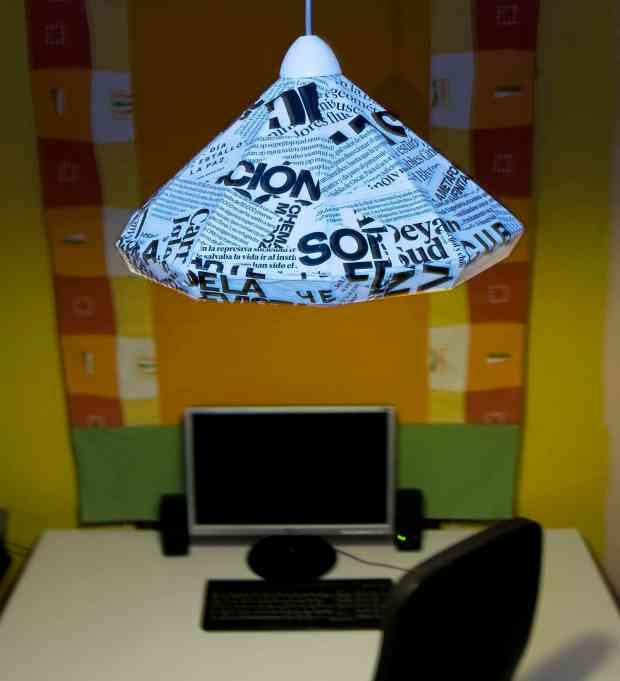 Cómo hacer una lámpara con cartón y papel