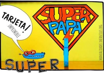 tarjeta de super papa para el dia del padre