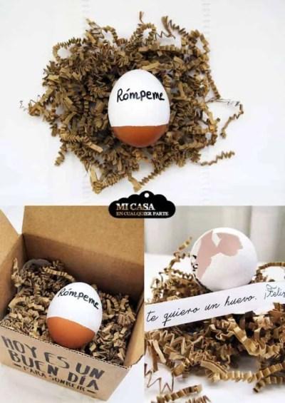 Manualidades para el día del padre - Huevo con mensaje