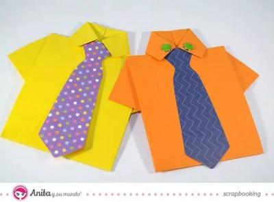 tarjetas camisa para el dia del padre