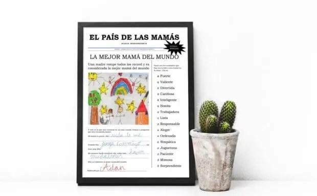 Lamina para imprimir y regalar el día de la madre