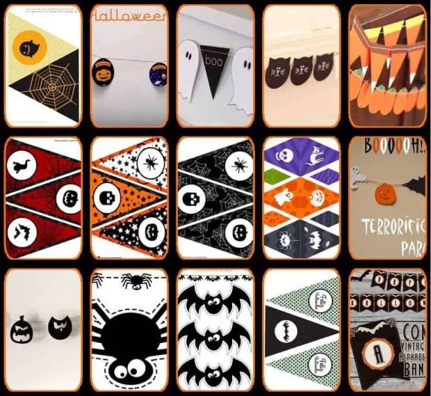 15 guirnaldas para Halloween que puedes imprimir gratis