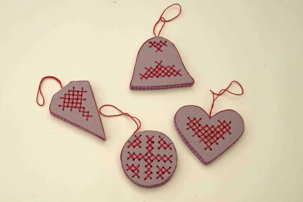 Aprende como hacer adornos de navidad de cart n tutorial - Adornos de navidad en carton ...