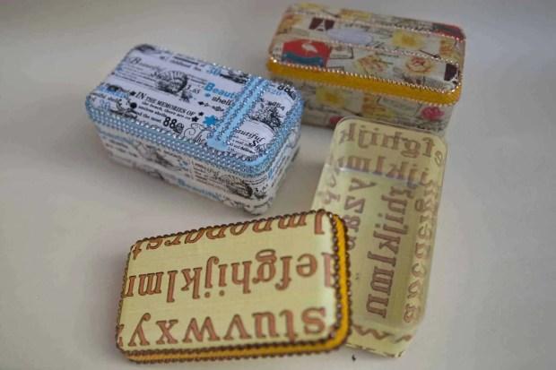 Ideas con washi tape: forrar una cajita de plástico