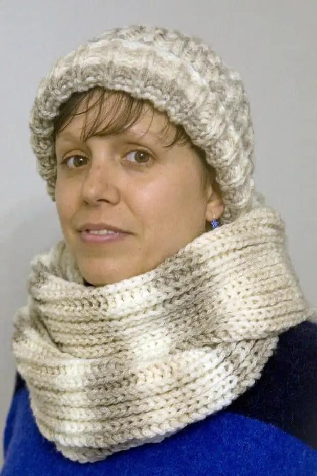 Patrones fáciles para tejedoras novatas: gorro y bufanda - Por ...