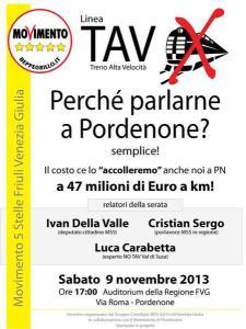 TAV, perchè parlarne a Pordenone? – Sabato 9 nov 2013