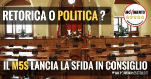 RETORICA O POLITICA? IL M5S DI PORDENONE LANCIA LA SFIDA IN CONSIGLIO