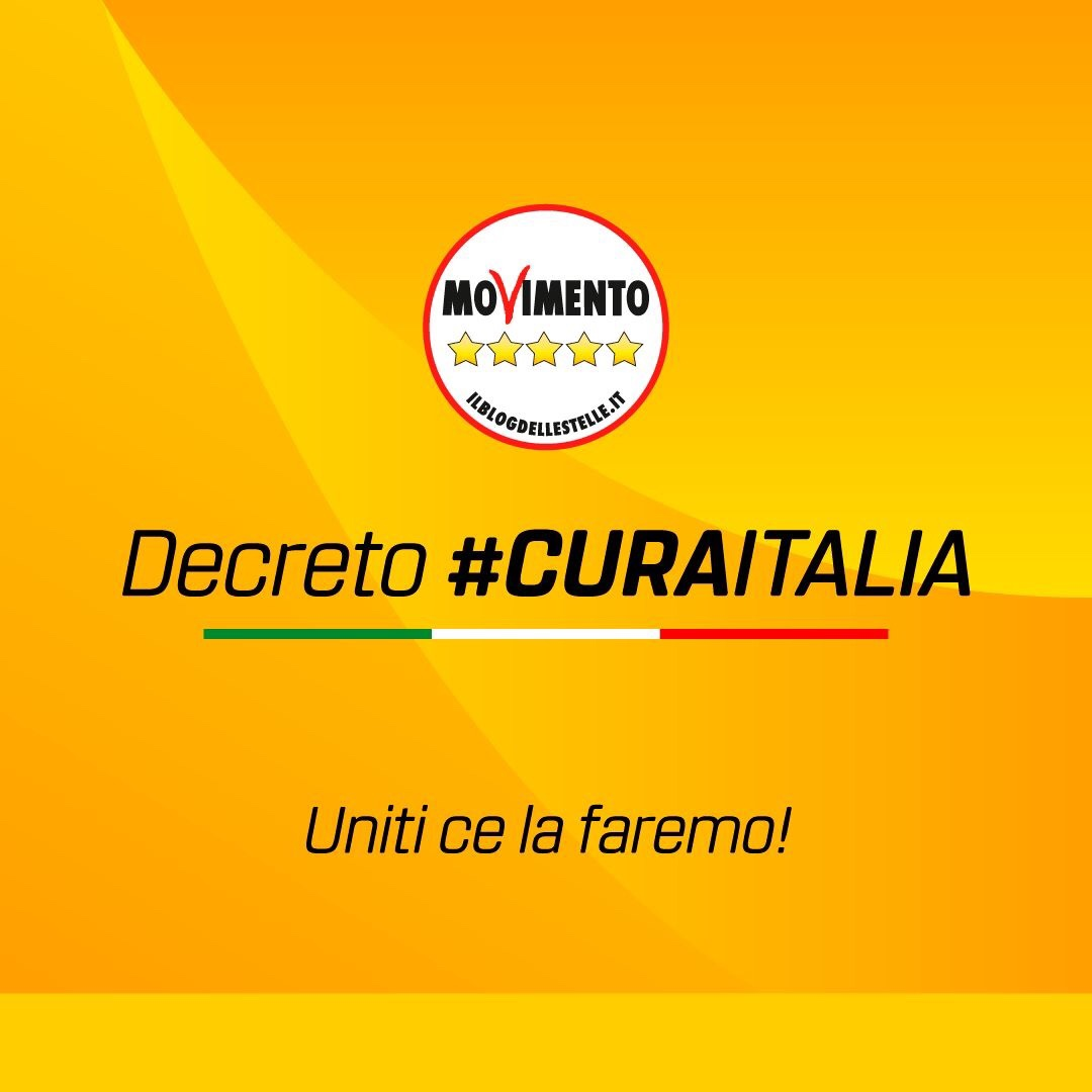 Decreto Cura Italia, uniti ce la faremo!
