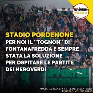 Stadio Pordenone: per noi il Tognon di Fontanafredda é sempre stata la soluzione per ospitare le partite dei neroverdi ⬛️🟩