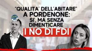 """Read more about the article """"QUALITA' DELL'ABITARE"""" A PN, M5S AL SINDACO: """"SUA NARRAZIONE OMETTE I NO DI FDI"""""""