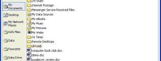Windows XP Places Bar