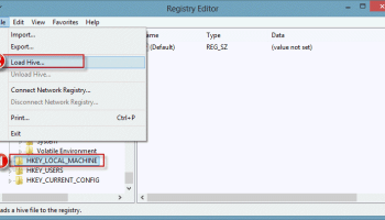 Load the Old Registry Hive into the new registry