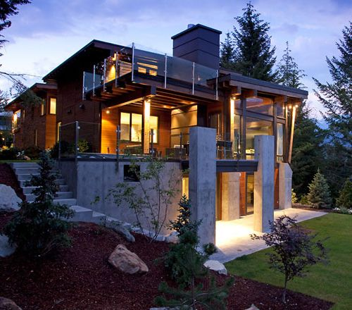 The compass pointe house in whistler canada por homme for Modern home plans canada